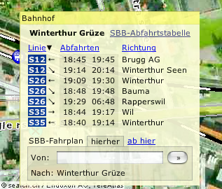 map.search.ch with timetable