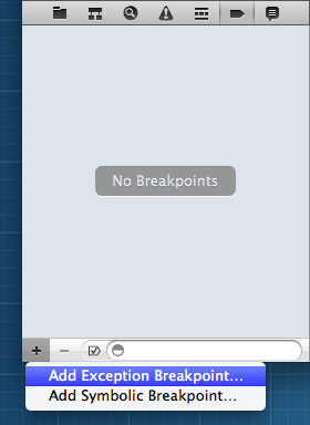 AddExceptionBreakpoint